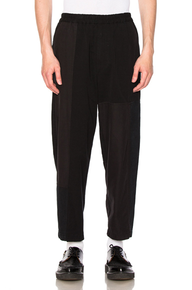 Mixed Canvas Patchwork Trousers
