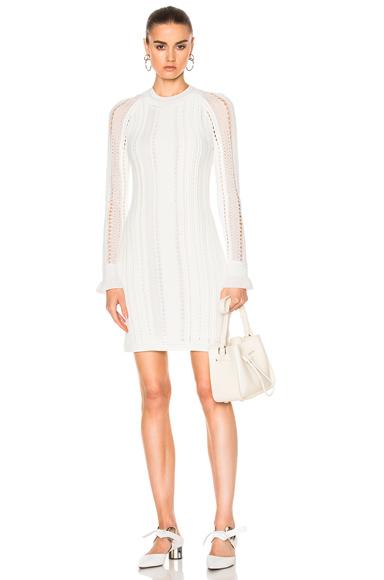 Long Sleeve Pointelle Lace Dress