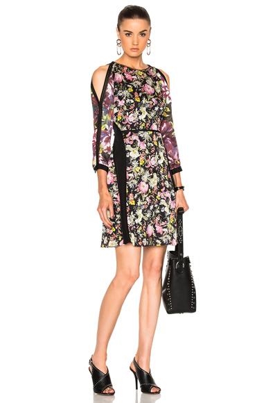 Meadow Flower Cold Shoulder Dress