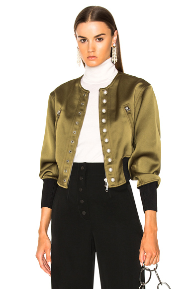 Bomber Jacket with Pearls