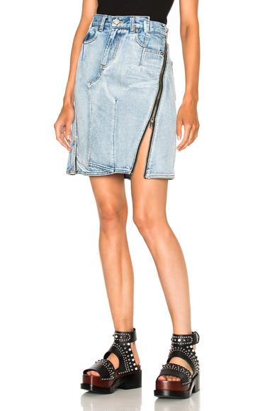 Asymmetrical Skirt with Zipper