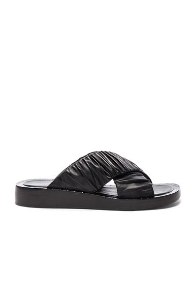 Leather Nagano Slides