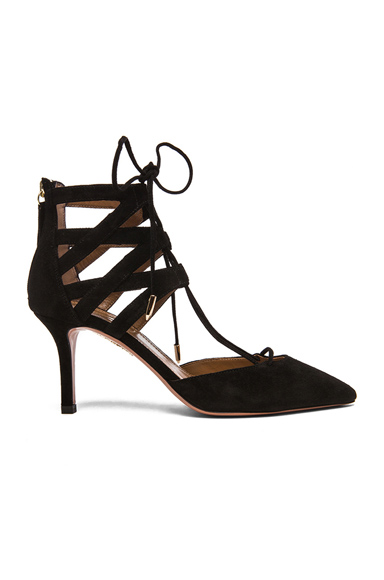 Belgravia Suede Lace Up Pumps