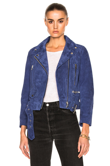 Mock Suede Leather Jacket