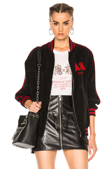 x Chang Gang for FWRD Embroidered Bomber Jacket