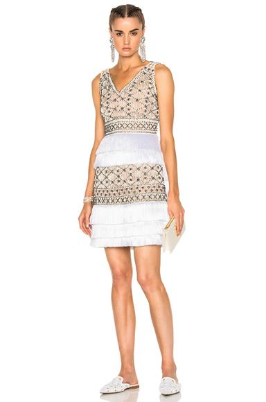 Crochet Embellished Sleeveless Mini Dress