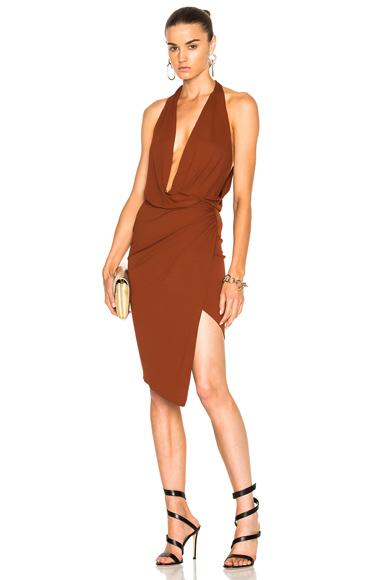 Stretch Jersey Sleeveless Wrap Dress