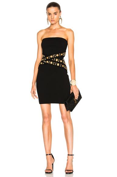 Strapless Waist Detail Dress