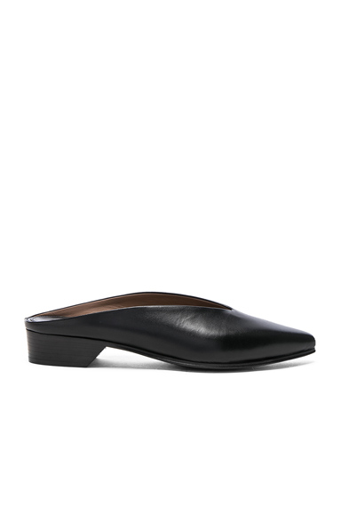 Leather Pointy Almond Mules