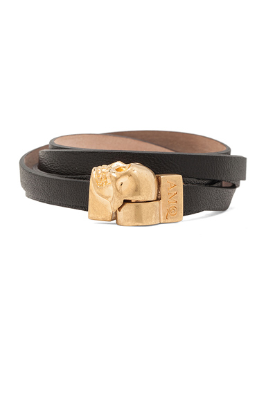 Magnet Double Wrap Nappa Leather Skull