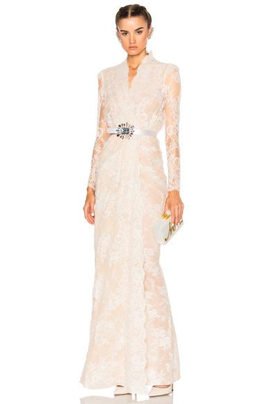 Sara Lace Wrap Dress