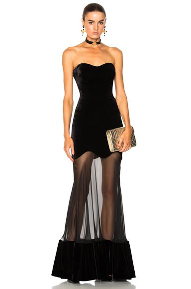 Bustier Velvet Gown