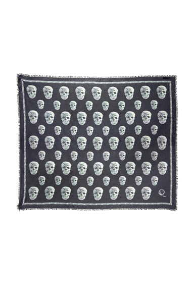 Crystal Multi Skull Pashmina