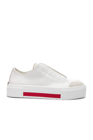 Canvas Platform Slide Sneakers