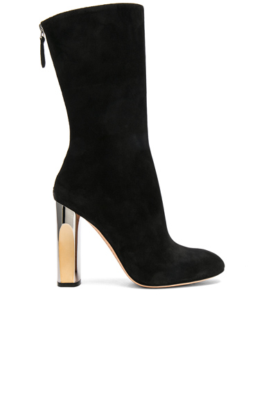Cashmere Suede Tall Heeled Boots