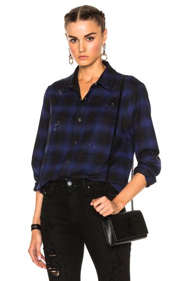 Crystal Plaid Flannel Top