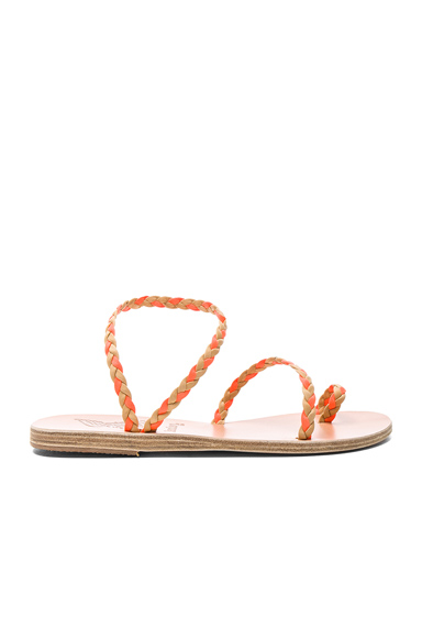 x Lemlem Leather Eleftheria Braids Sandals