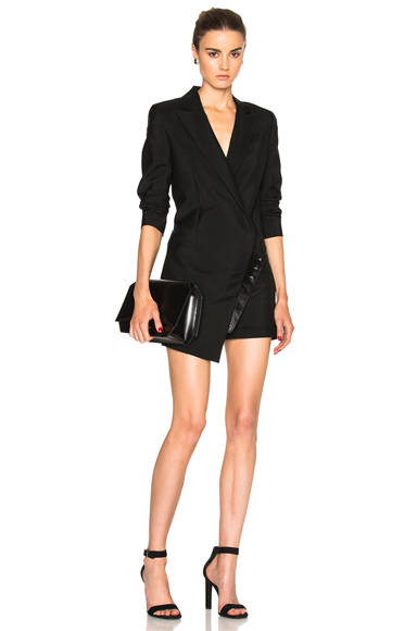 Suiting Combo Leather Jumpsuit