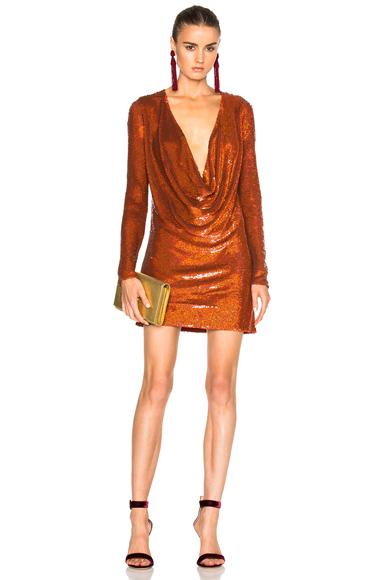 Drape Front Mini Dress