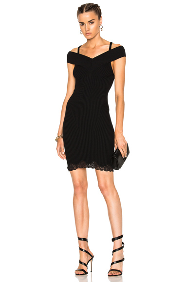 Ribbed Tank Dress with Lace