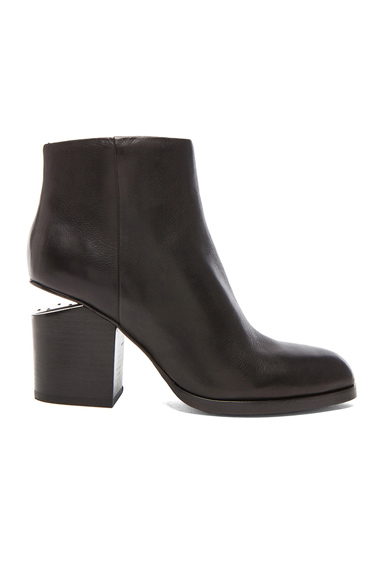 Gabi Ankle Booties with Silver Hardware