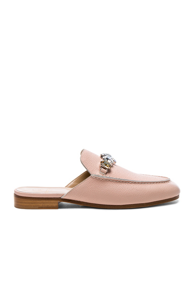 Leather Loafer Slides