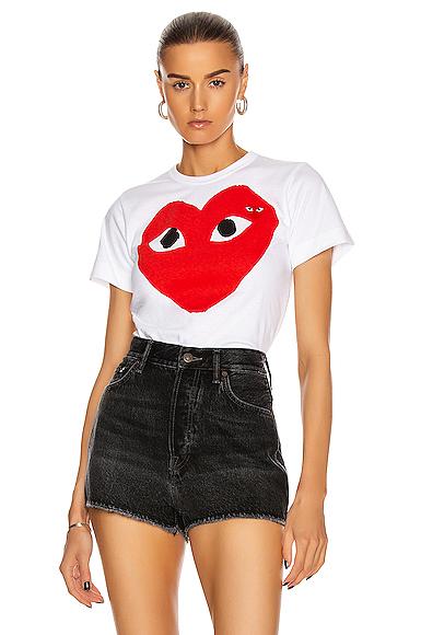 Cotton Red Heart Emblem Tee