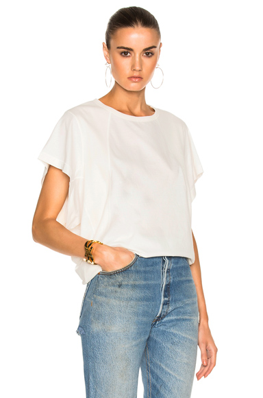 Cotton Rib Jersey Seamed T-Shirt