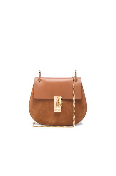 Small Calfskin & Suede Drew Bag