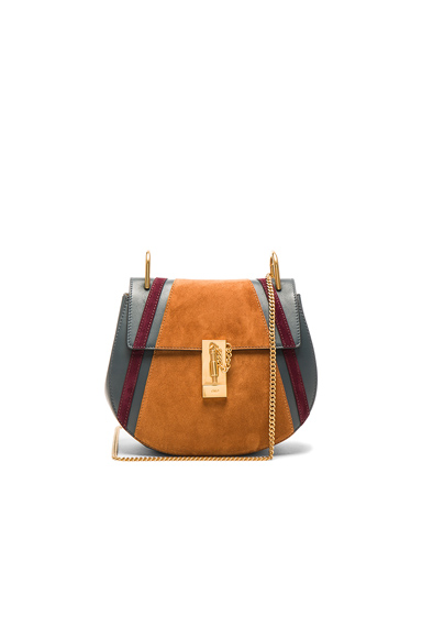 Small Patchwork Suede Drew Bag