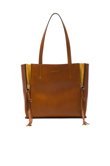 Medium Milo Leather & Suede Tote