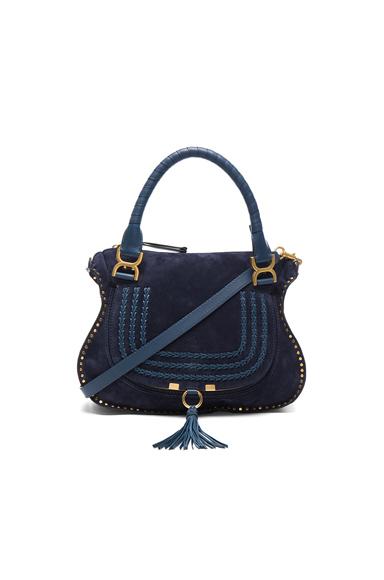Medium Marcie Suede & Leather Satchel