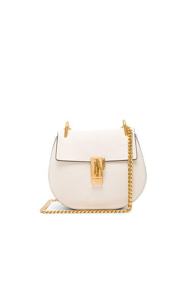 Small Drew Leather Large Chain Shoulder Bag