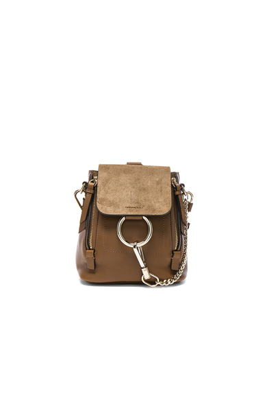 Mini Faye Suede & Leather Backpack
