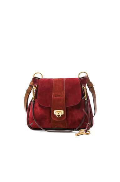 Small Lexa Suede Shoulder Bag