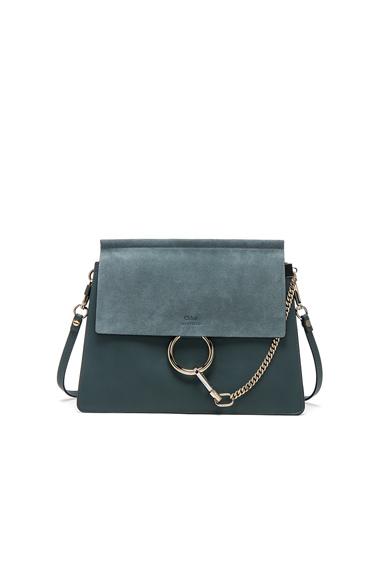 Medium Faye Suede & Calfskin Bag