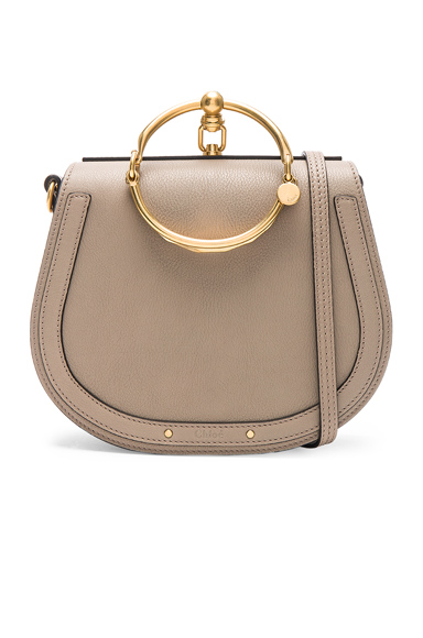 Medium Nile Suede & Calfskin Bracelet Bag