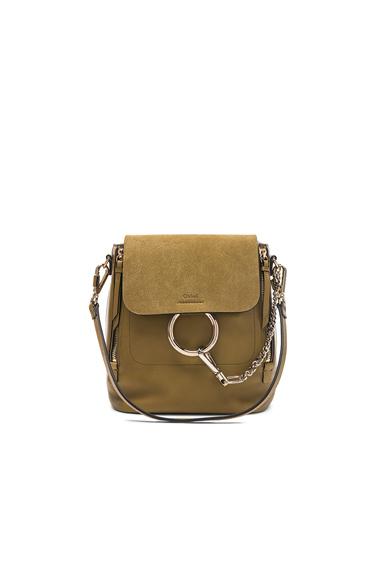 Small Faye Suede & Calfskin Backpack