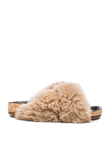 Kerenn Shearling Fur Sandals