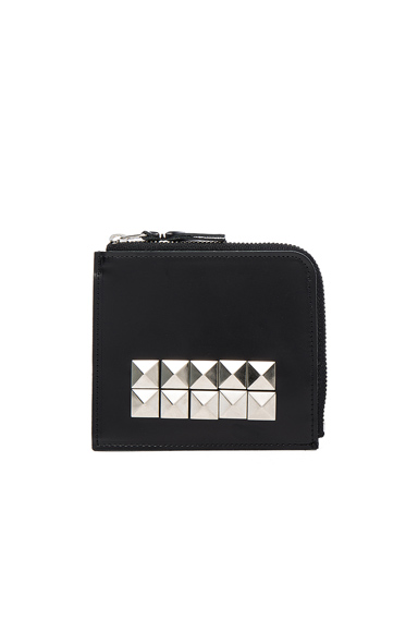 Studded Leather Zip Wallet