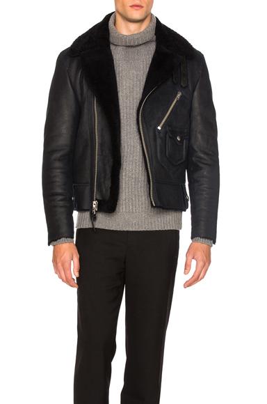 Sheep Shearling Motorcycle Jacket