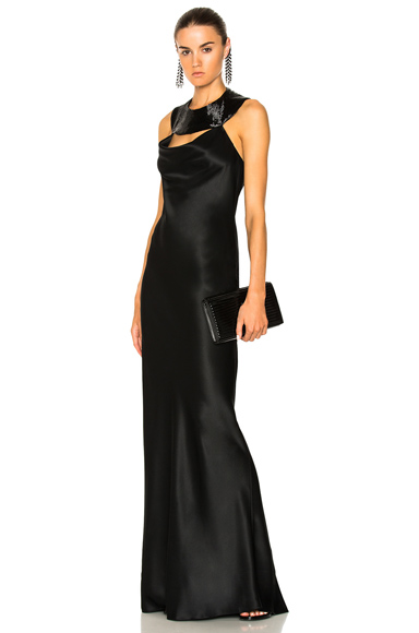 Beaded Collar Gown