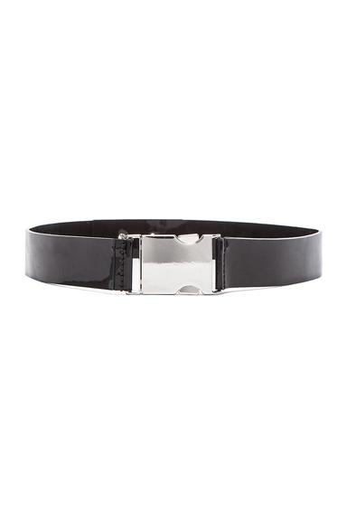 Patent Leather Buckle Belt