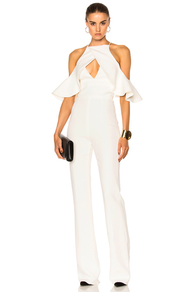 Shoulder Ruffle Jumpsuit