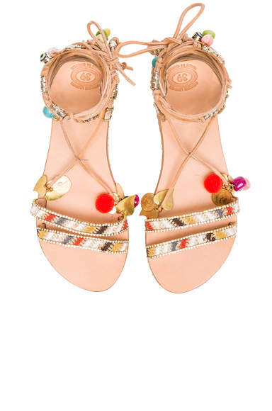 Leather Stardust Sandals