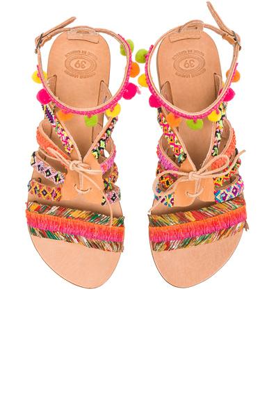 Leather Hula Hoop Sandals