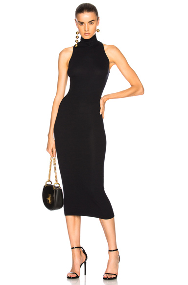 Turtleneck Sleeveless Dress
