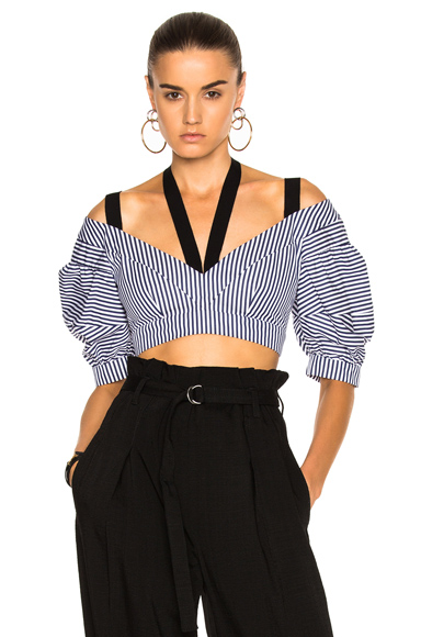 Debra Striped Cotton Top