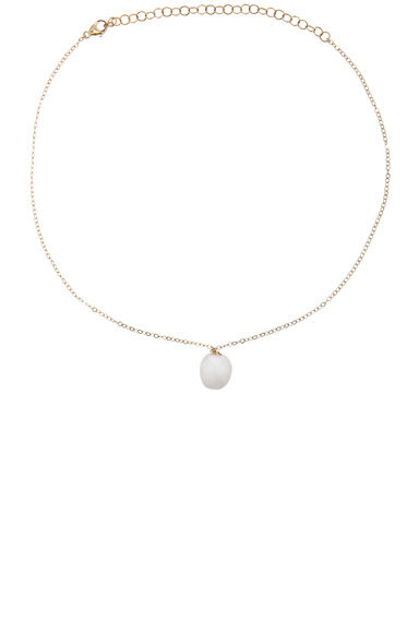 14K Gold Pearl Choker Necklace