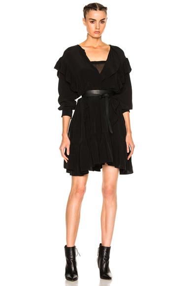 Wedy City Flou Ruffled Mini Dress